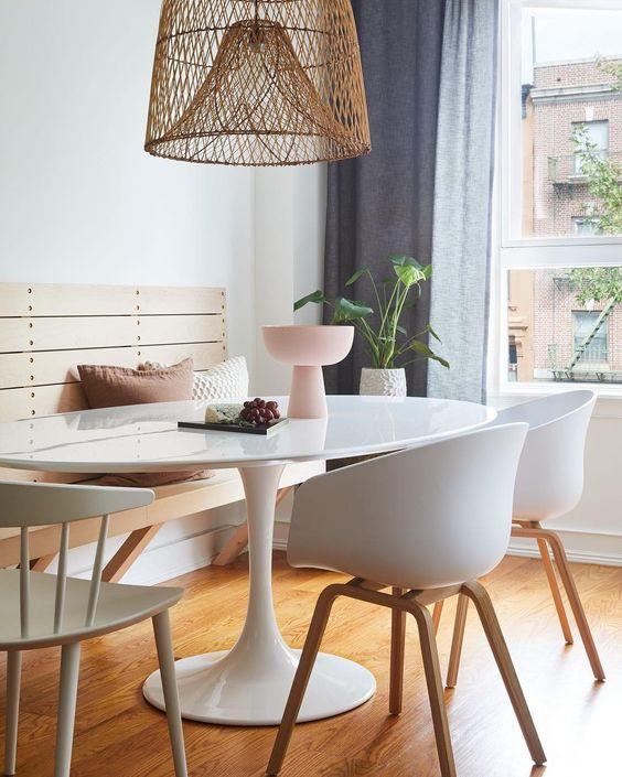 Capriche na escolha das cadeiras, elas fazem toda diferença na decoração