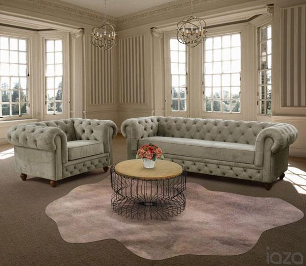 Sofá antigo com capitonê