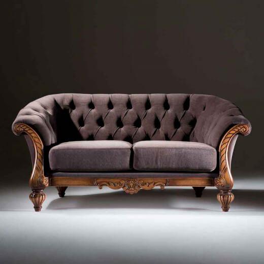 Sofá antigo de madeira