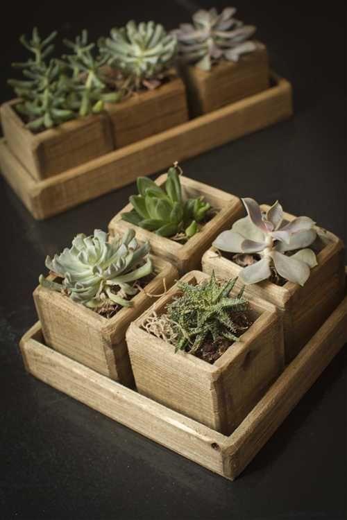 Suporte vaso de madeira para plantas