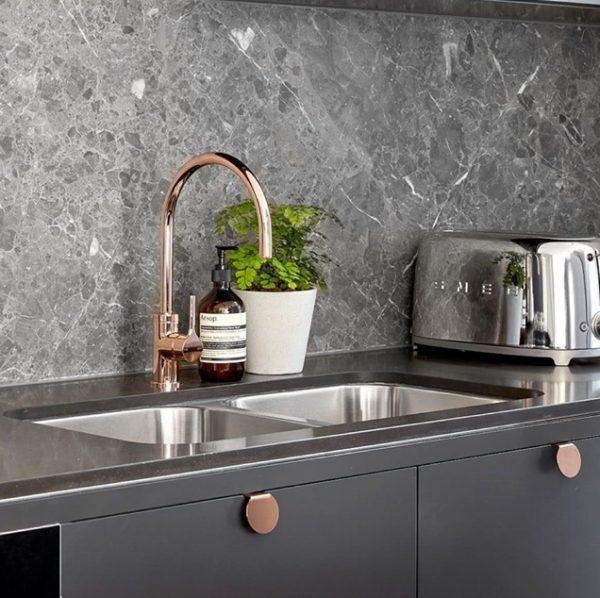 Cores de mármore para cozinha moderna