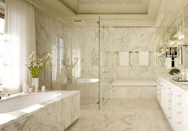 Cores de mármore para usar no banheiro claro