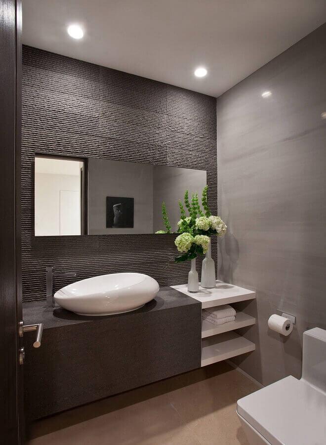 tons de cinza para banheiro planejado moderno Foto Air Freshener