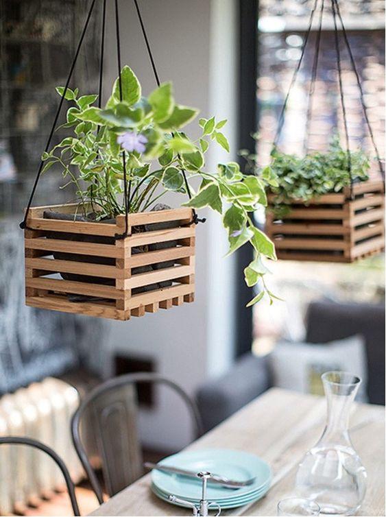 Vaso de madeira rustico