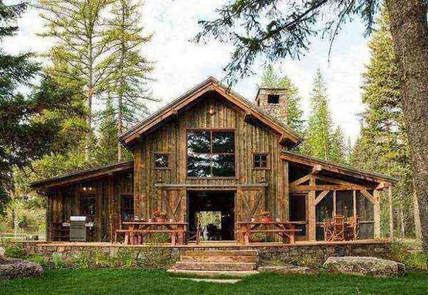 As casas de campo rústicas com varanda são apaixonantes