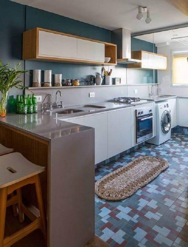 Decoração simples para cozinha e área de serviço pequena