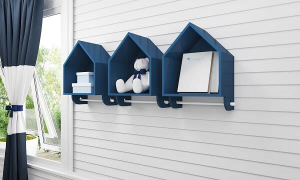 Modelo de nicho casinha em tom azul