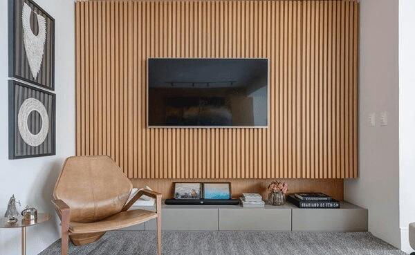 Modelo de painel ripado para TV
