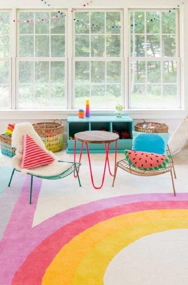 Modelo de tapete grande para quarto infantil ou brinquedoteca