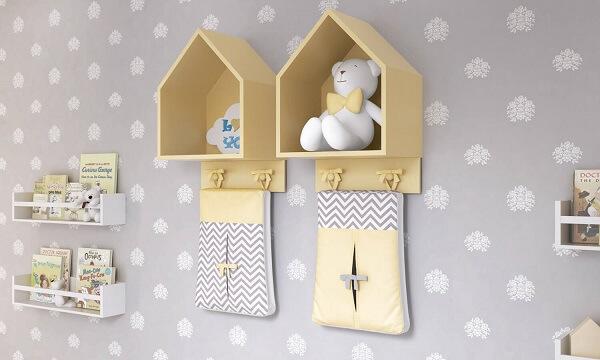 O nicho casinha amarelo traz alegria para a decoração