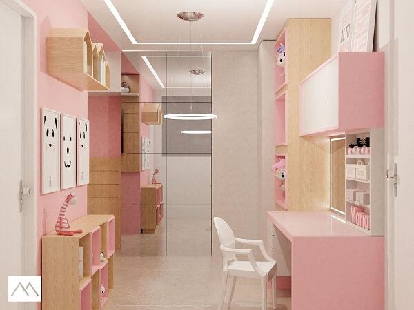 Quarto infantil planejado com nicho casinha