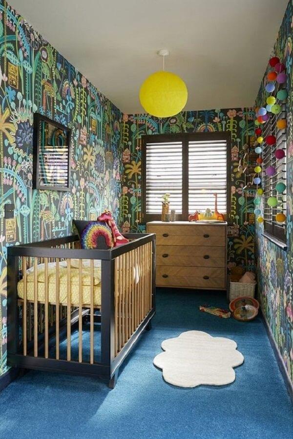 Tapete infantil para quarto delicado em formato de nuvem
