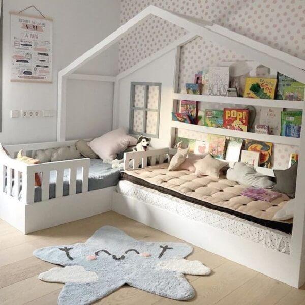 Tapete para quarto infantil fofo em forma de estrela