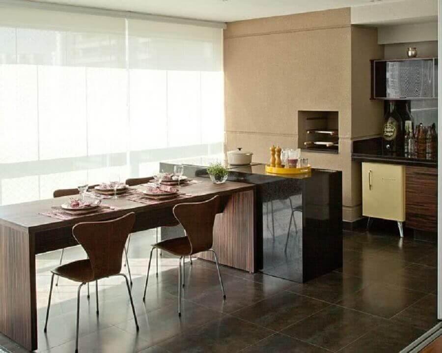 apartamento com varanda gourmet com churrasqueira elétrica  Foto Pinterest