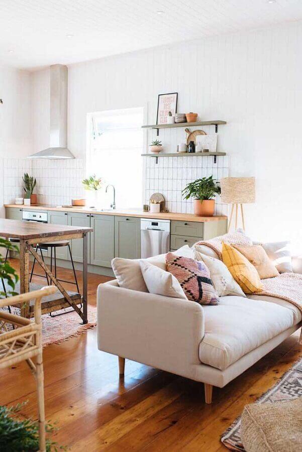 armários com estilo clássico para cozinha e sala integrada Foto Pinterest