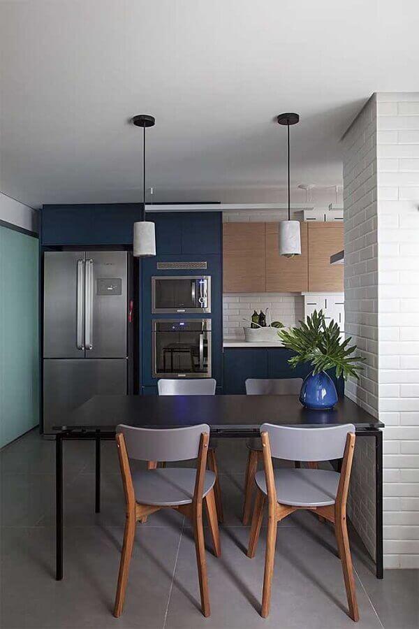 armários planejados para cozinha e sala de jantar integradas modernas Foto ArchDaily