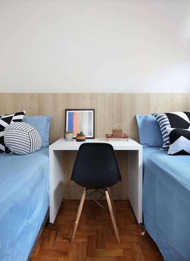 cadeira para home office quarto de solteiro simples  Foto Pinterest