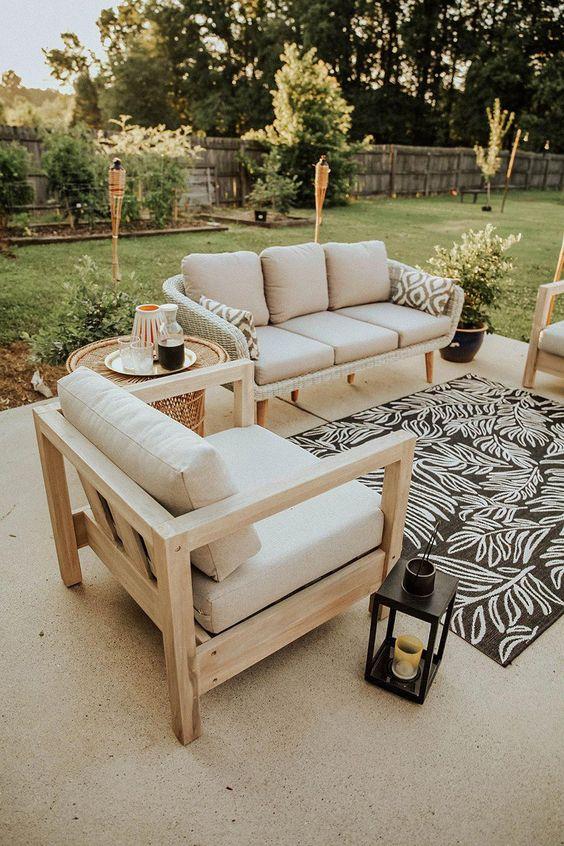 Conjunto de sofá rústico