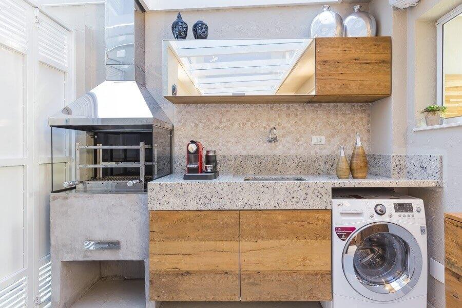 cozinha externa com lavanderia planejada Foto Houzz
