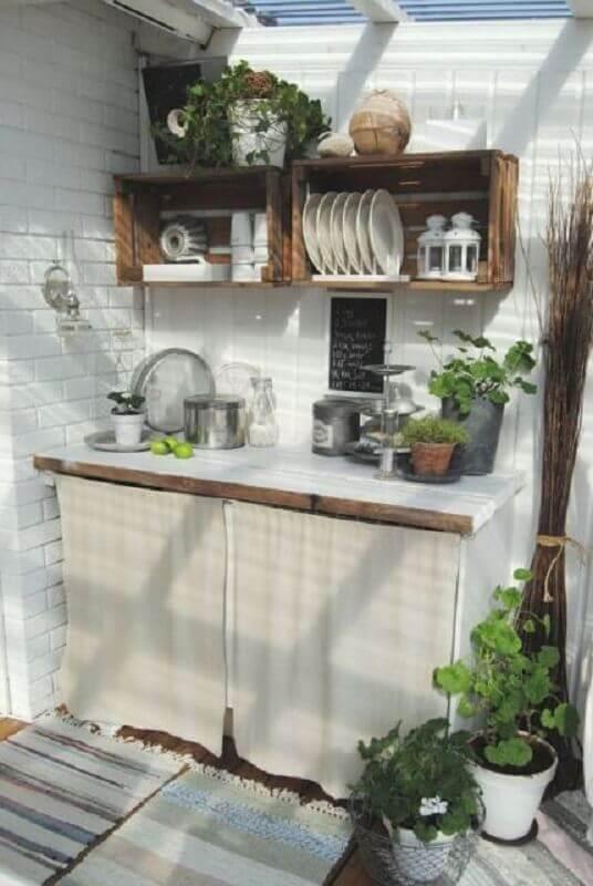 cozinha externa pequena e simples Foto Homedit