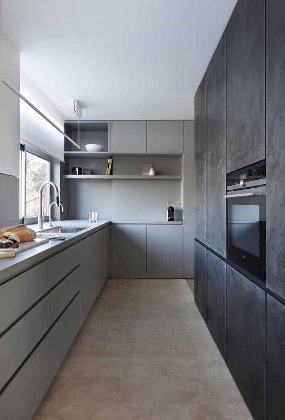 Cozinha monocromática