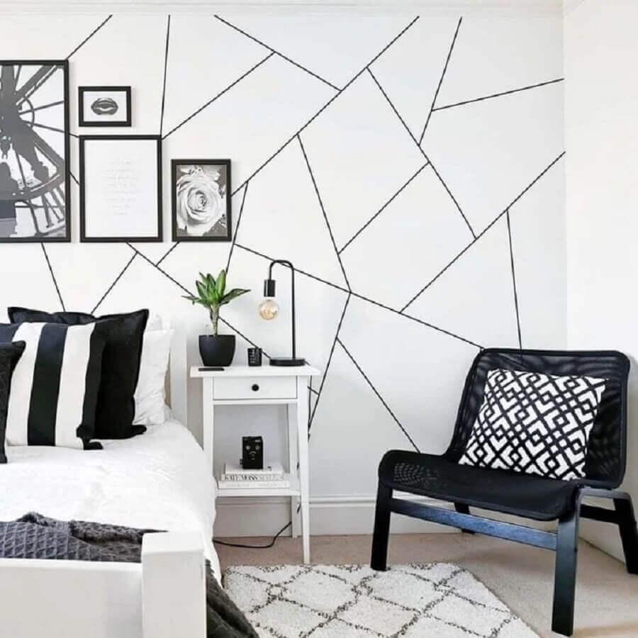 decoração branco e preto para sala moderna Foto Budget Home Interior Design