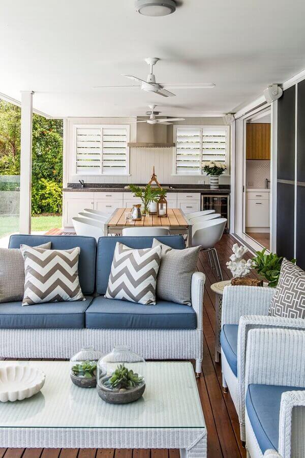 decoração clássica para cozinha área externa Foto Homes To Love