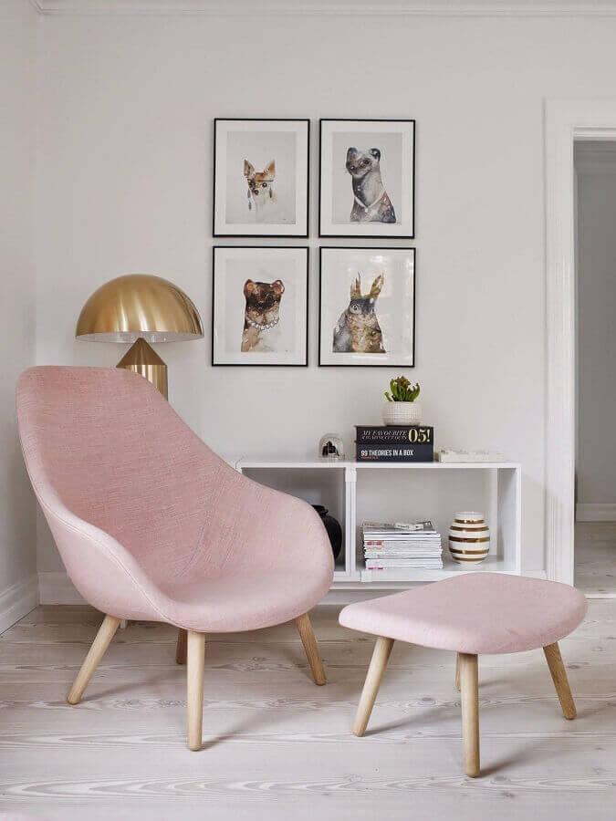 decoração clean com poltrona amamentação moderna Foto Pinterest