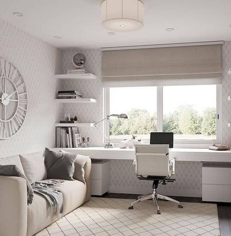 decoração com cadeira ideal para home office planejado todo branco Foto Home Decor