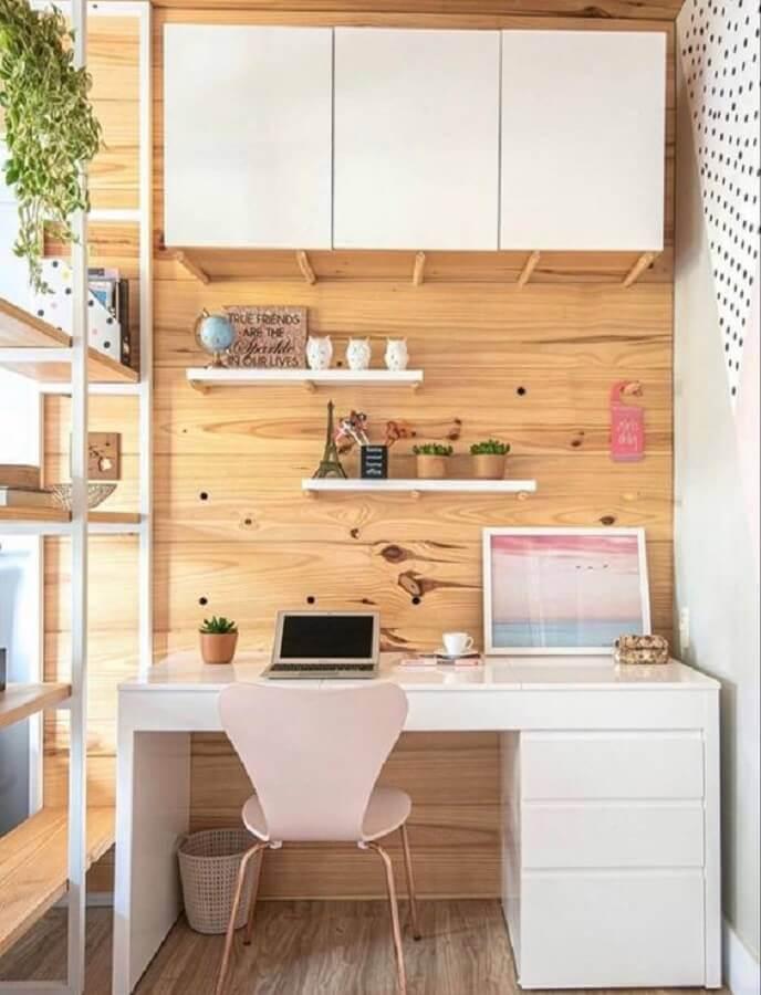 decoração com cadeira para home office pequeno Foto Casa de Valentina