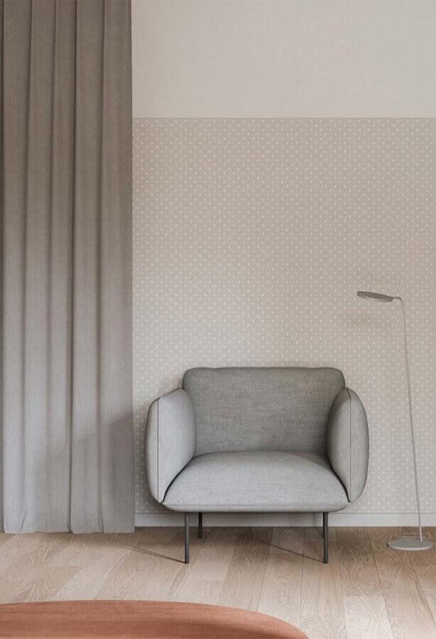 decoração com poltrona design moderno cinza Foto De Lavie Decor