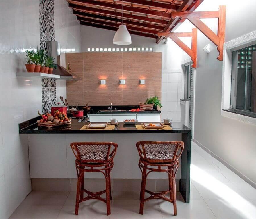 decoração de cozinha externa pequena planejada Foto Pinterest