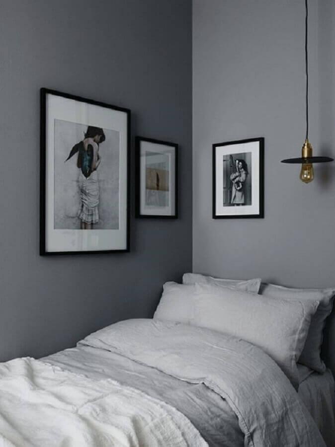 decoração de quarto minimalista cinza Foto Coco Lapine Design