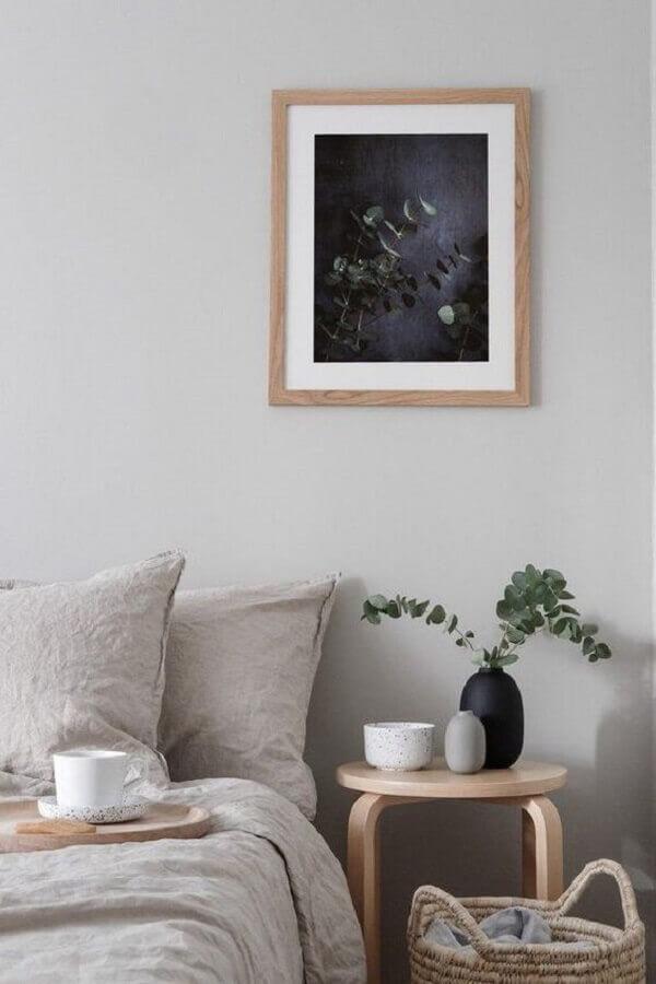 decoração de quarto minimalista com vasinhos para mesa de cabeceira Foto Etsy