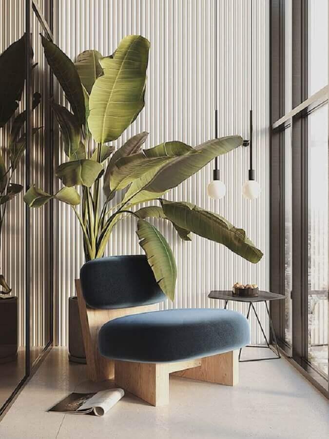 decoração de varanda com poltrona design moderno Foto DezignArk