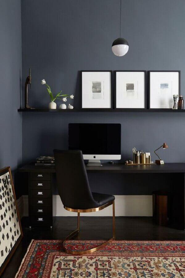 decoração moderna com cadeira para home office preto Foto Universe of Design