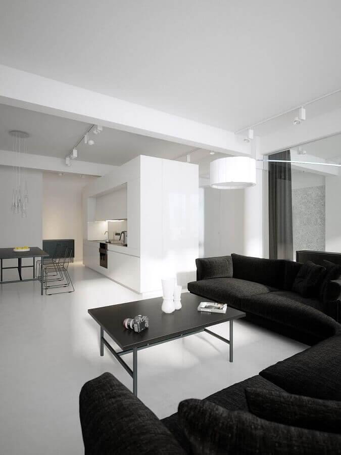 decoração para sala de estar em preto e branco Foto Futurist Architecture