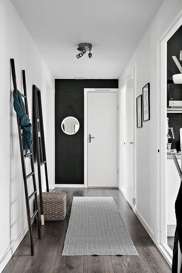 decoração preto e branco para corredor Foto Planete-deco