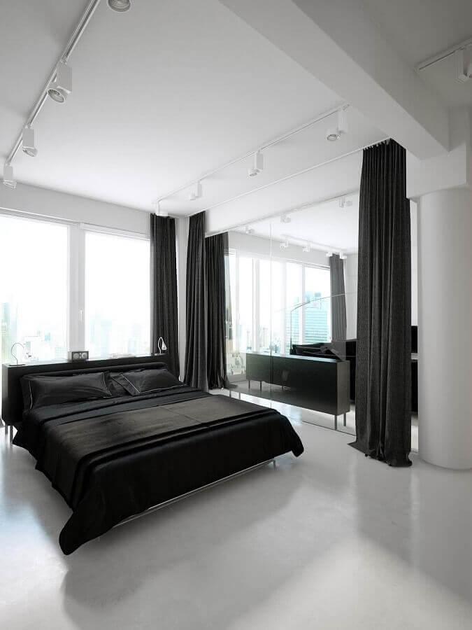 decoração preto e branco para quarto de casal minimalista Foto Home Furniture