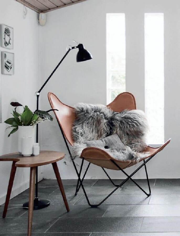 decoração simples com poltrona design moderno Foto Meu Estilo Decor