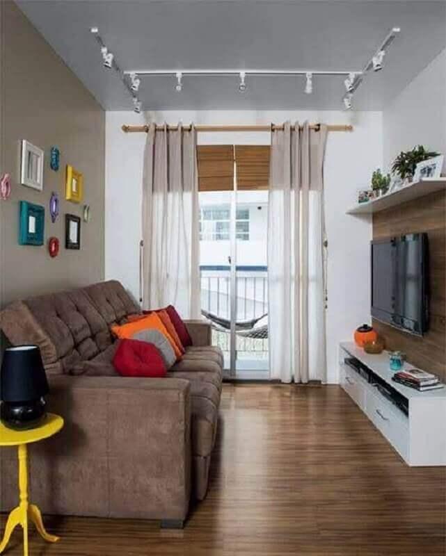decoração simples com sofá para sala pequena Foto Pinterest