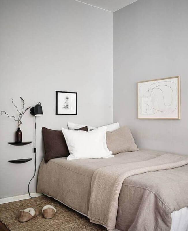 decoração simples para quarto de solteiro minimalista Foto Coco Lapine Design
