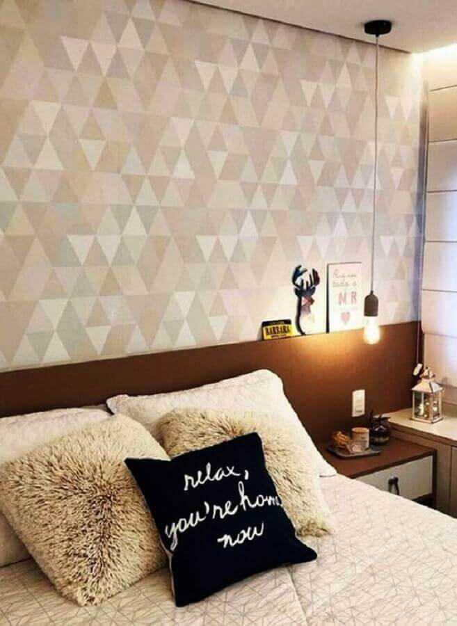 delicado papel de parede quarto de casal Foto Simples Decoração