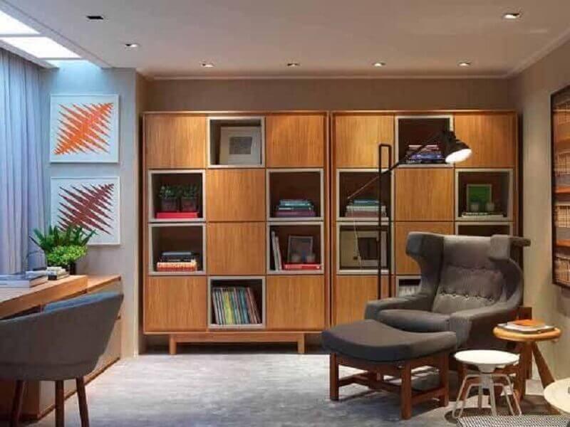 escritório decorado com poltronas modernas e confortáveis Foto My Fancy House