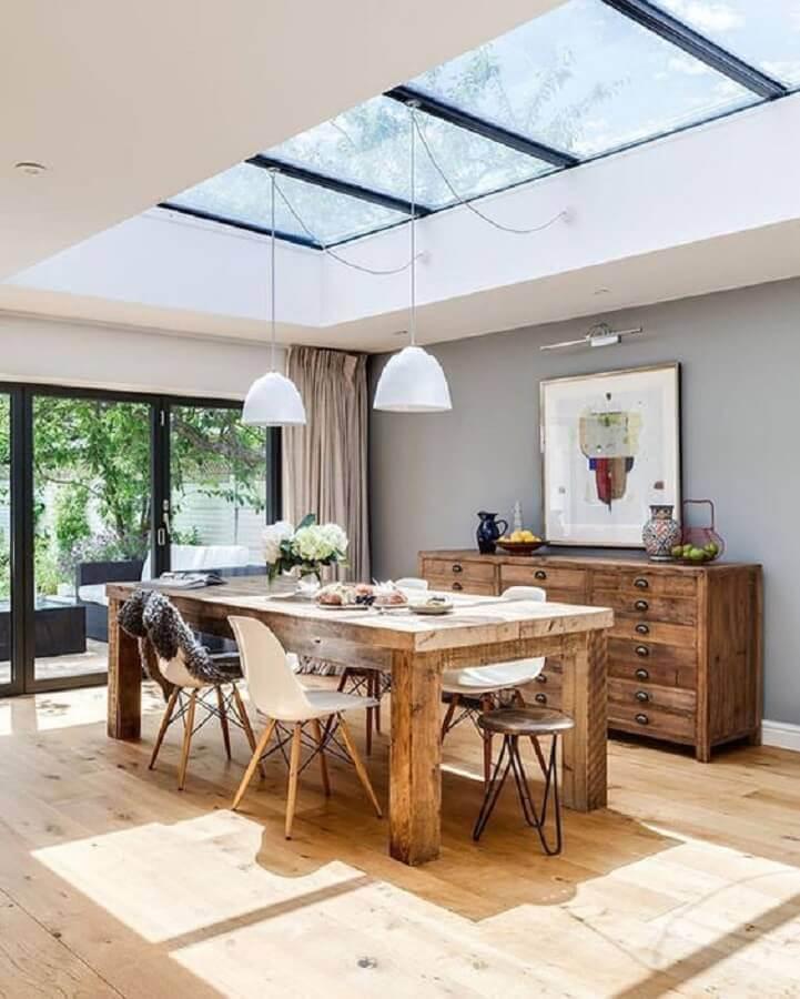 iluminação natural para sala de jantar - tendências de decoração 2021 Foto Pinterest