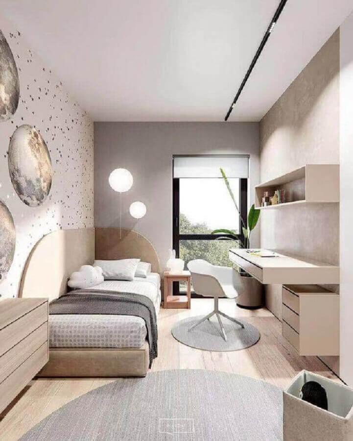 móveis planejados para quarto de solteiro minimalista Foto Home Designing