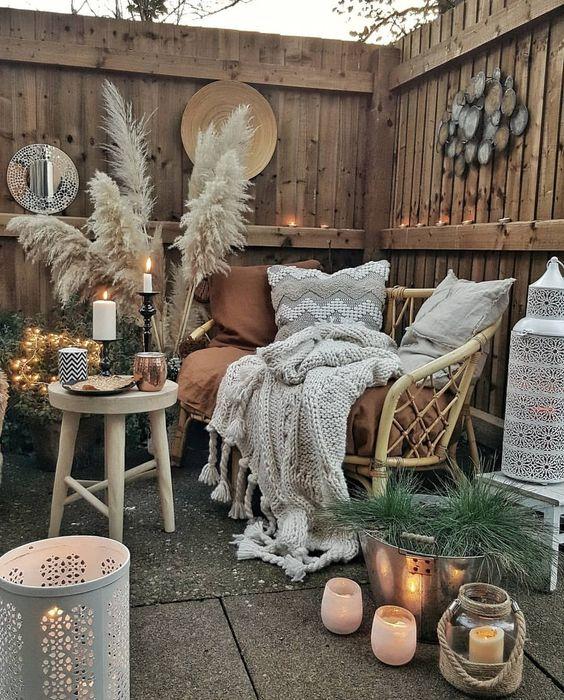 Manta para poltrona de varanda