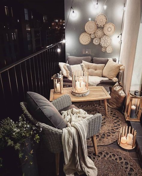 Manta para poltrona na varanda