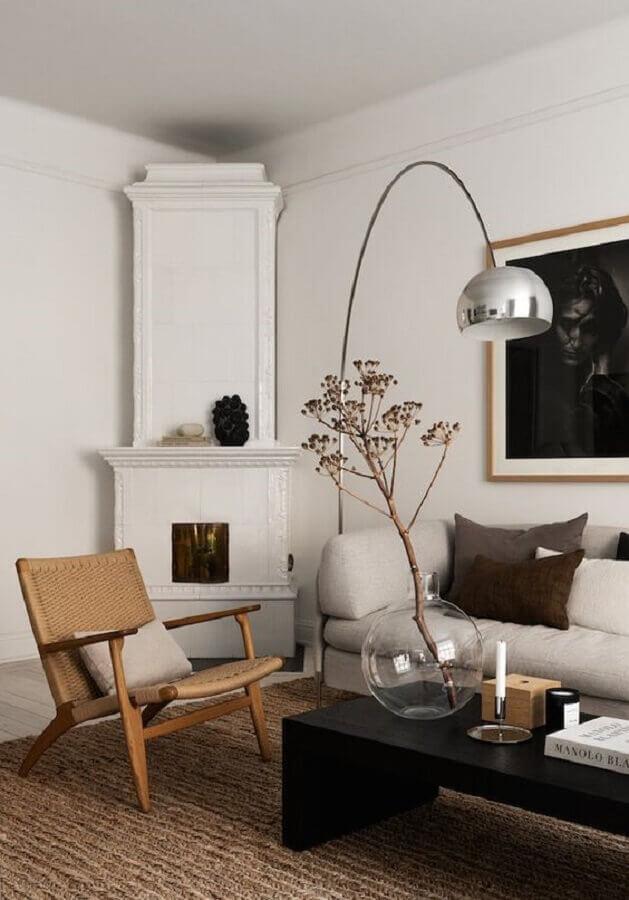 mesa de centro preta para sala decorada com estilo escandinavo Foto The Nordroom