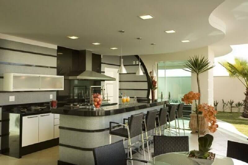 modelo de cozinha externa ampla Foto Pinterest